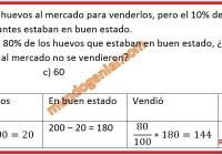 María Elena llevó 200 huevos al mercado para vaenderlos,......