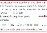 Roberto sufrió una intoxicación y se atendió en una clínica.......
