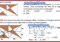 En la figura..... se sabe que ABDE es un rectángulo, C y F son puntos medios........