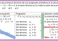 La suma de los dos primeros términos de un progresión aritmética......