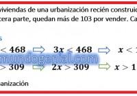 Si se vende la cuarta parte de las viviendads de una urbanización.........