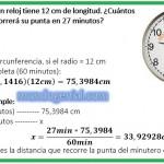 el minutero de un reloj tiene 12 cm de longitud. .....