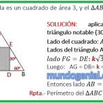 en la figura, la region pintada es un cuadrado de área 3,....