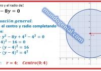 Halla el centro y el radio de la circunferencia.....