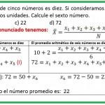 el promedio aritmético de cinco números es diez............