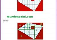 Qué área es mayor, la parte roja o la parte blanca de la figura
