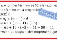 en una progresión aritmética, el primer término.....