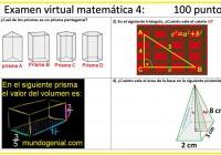 examen virtual prismas y pirámides