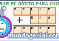 dígito para cada letra 1