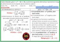 la función gx..... cual de las siguientes alternativa....