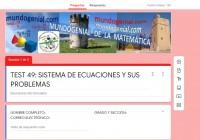 SISTEMA DE ECUACIONES TEST 49