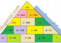 triángulo sistema de ecuaciones