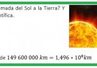 cual es la distancia del Sol a la Tierra....