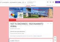 TEST 74 - SINÓNIMOS