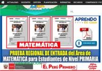 PRUEBA REGIONAL DE ENTRADA 2021