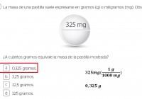 la masa de una pastilla suele.......
